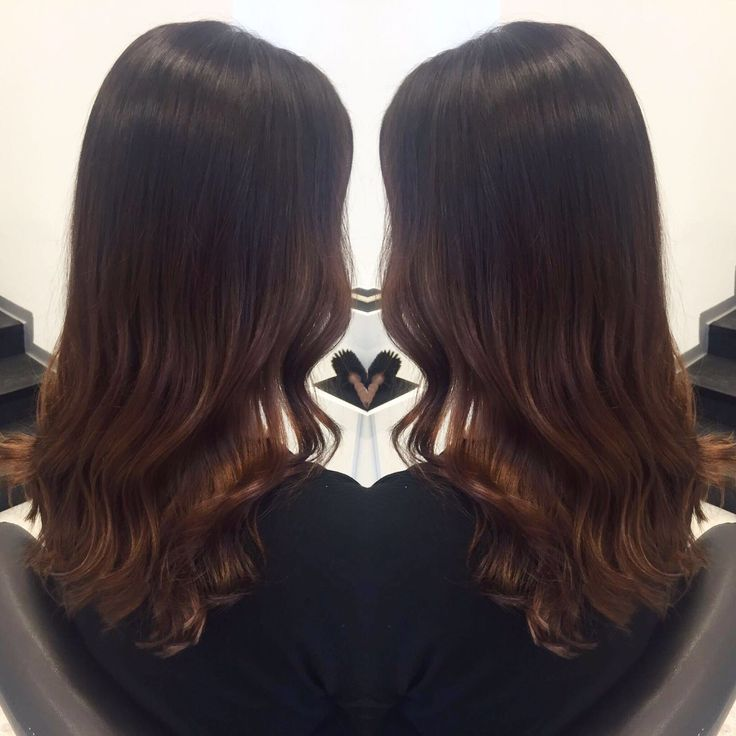 Intense brown with curls