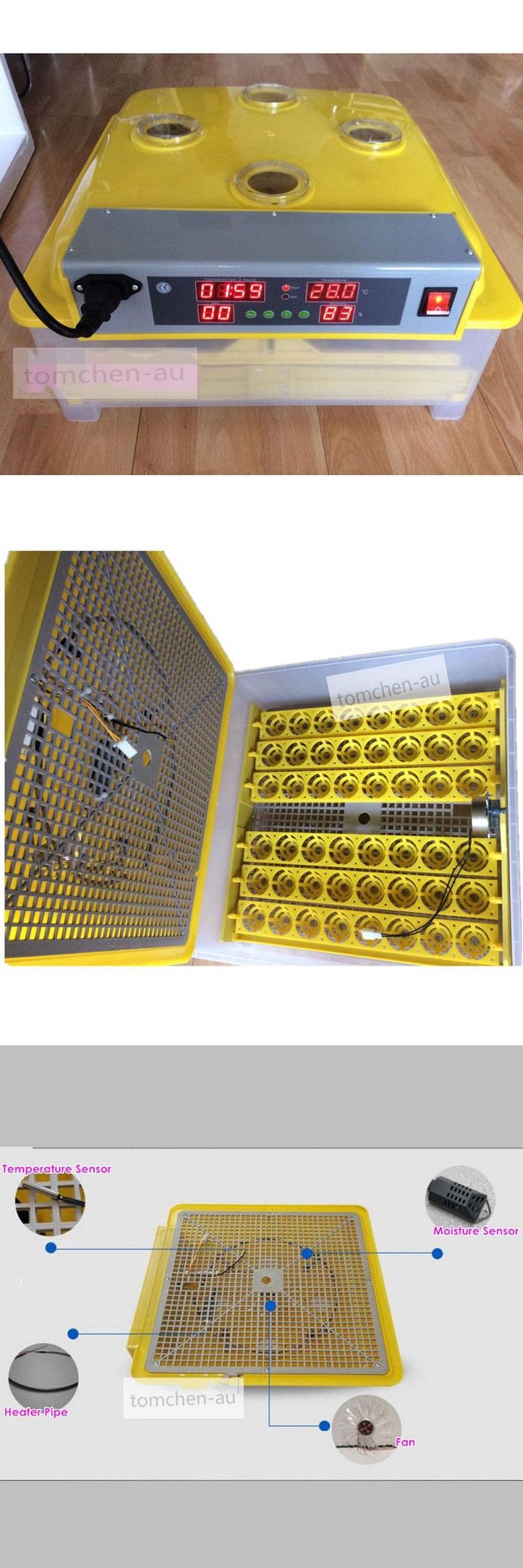 [Visit to Buy] Hot Sale! ZZ-48 Fully Hatchery Machine Mini 48 Chicken Eggs Incubators Automatic Control for Pigeon Quail Duck Parrot #Advertisement