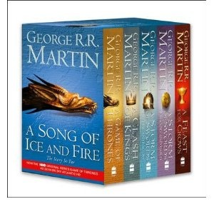 George R. R. Martin's A Song of Ice and Fire series... currently reading the third in this series.