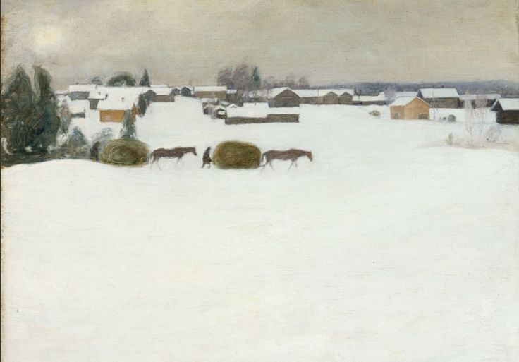 Pekka Halonen, Load of Hay, 1899