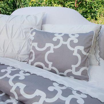 Geometric Print Duvet Cover, The Noe Gray contemporary duvet covers (Crane & Canopy)
