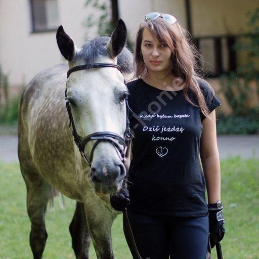 0759 CAVALLINO T-shirt JOY z napisem - Amigo-Konie.pl - sklep jeździecki, bryczesy, kask jeździecki, siodło jeździeckie, buty do jazdy konnej