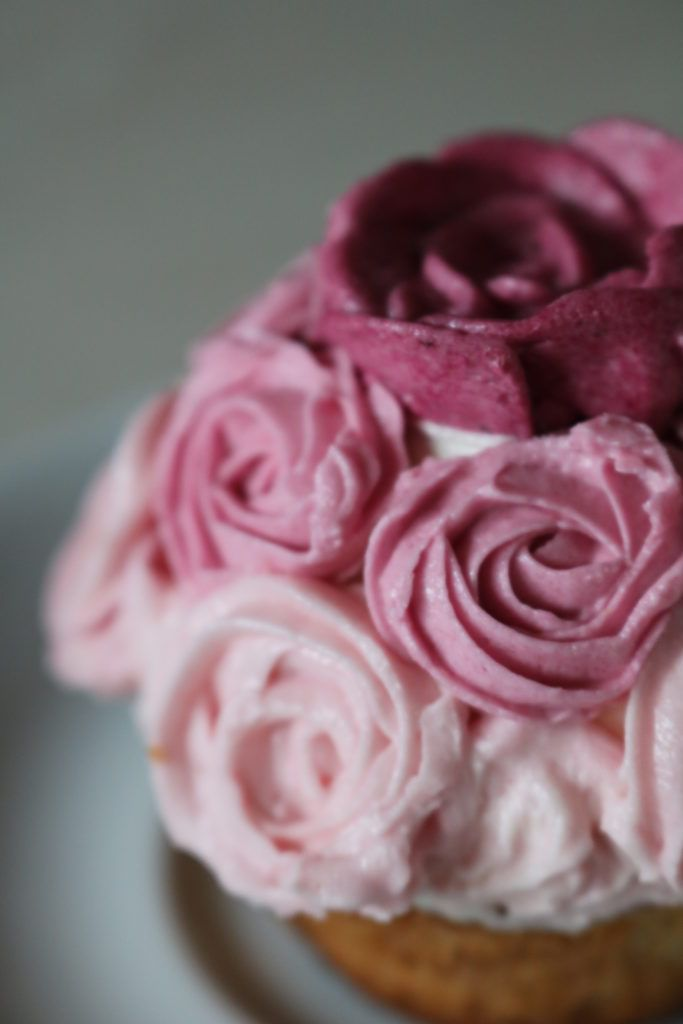 Buttercream Swirl Rose Decorated Cupcake