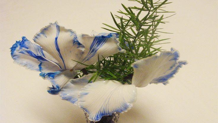 Blumendeko zum selber machen  Alpenveilchen mit Tinte einfärben
