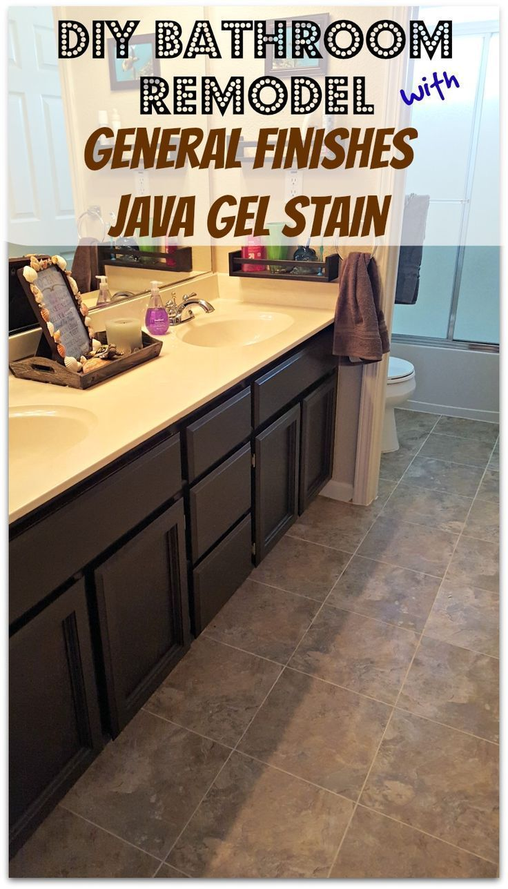 A general finishes gel stain review and pictures! This is an easy and affordable way of updating cabinets. Take a look at these beautiful java cabinets.