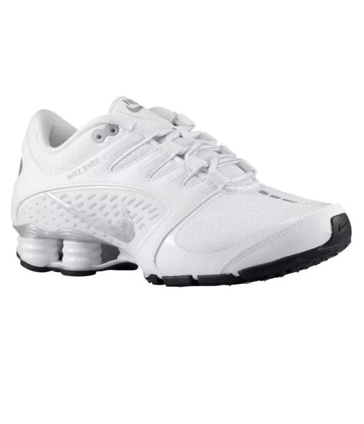 NEW YOUTH NIKE SHOX DELIVER PNT GS 615981-100 WHITE SILVER Size 3.5 NWOB Bin 17 #Nike