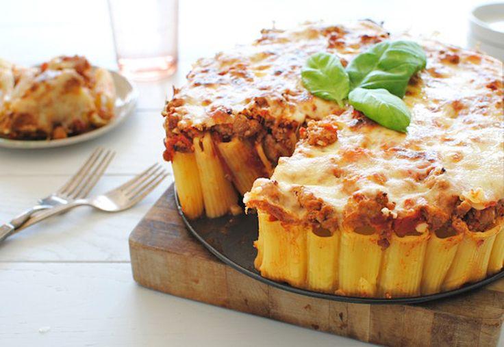Deze pasta taart zal je doen watertanden.