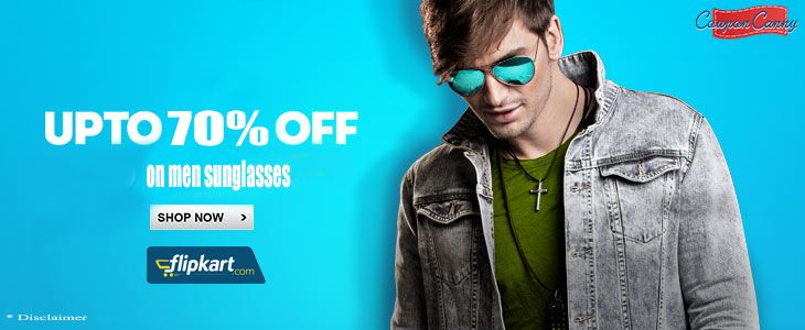 Upto 70% off on #Men #Sunglasses at #Flipkart!! CLAIM NOW : http://www.couponcanny.in/flipkart-coupons/