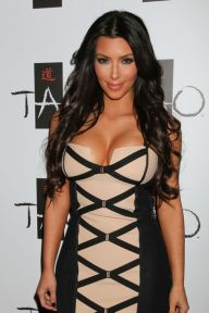 Kim Kardashian Celebrates the Launch of Her New Fragrance at Tao Nightclub in Las Vegas on February 27, 2010 So what? LOL Love the dress though!