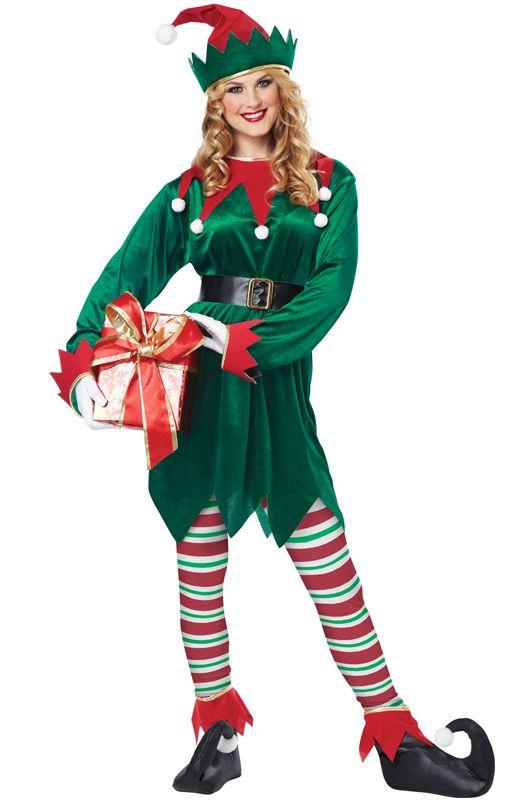 Christmas Elf Costume | Christmas Elf Adult Costume - Pure Costumes