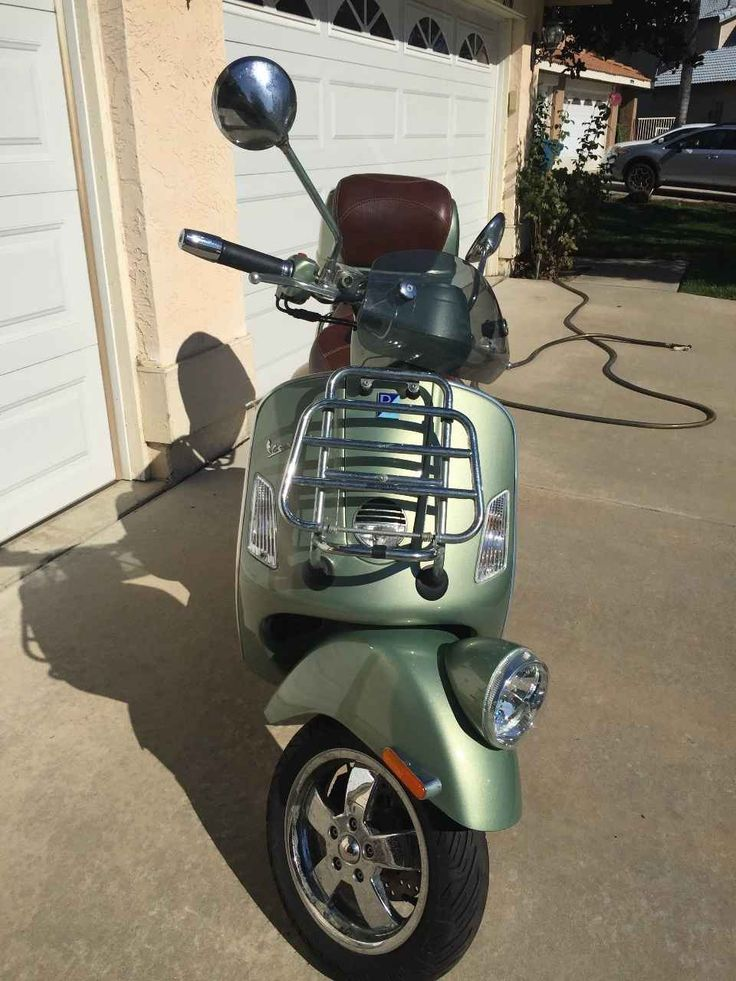 Used 2012 Vespa GTV 300 Motorcycles For Sale in California,CA. Considered the top-tiered scooter in the 2012 Vespa line-up, the GTV infuses the highest amount of modern technology into the classically themed commuter vehicle. Built on a steel frame, the 2012 Vespa GTV's design pays tribute to early scooters from the famous marque. Two-passenger and a headlight mounted to the front fender of the 2012 GTV are styling staples of classic Vespa products. Front cargo racks and a front windshield…