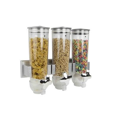 Home Basics Triple Wall Mounted Cereal Dispenser Set