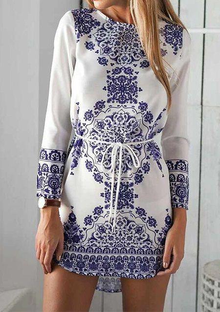 Long-Sleeve-Floral-Print-Mini-Dress for $22.99 at eBoutique Fab. M,L,XL