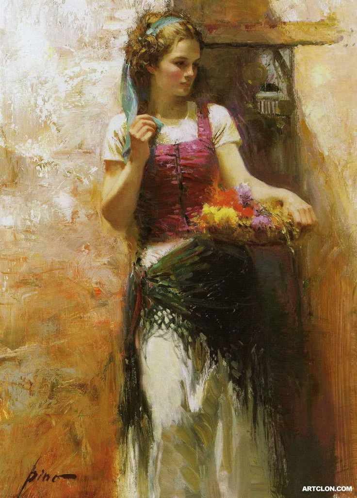 """If you have any other questions about """"4 Pino Daeni woman 2 paintings art for sale"""", please contact Toperfect. Description from oilpaintingfactory.com. I searched for this on bing.com/images"""