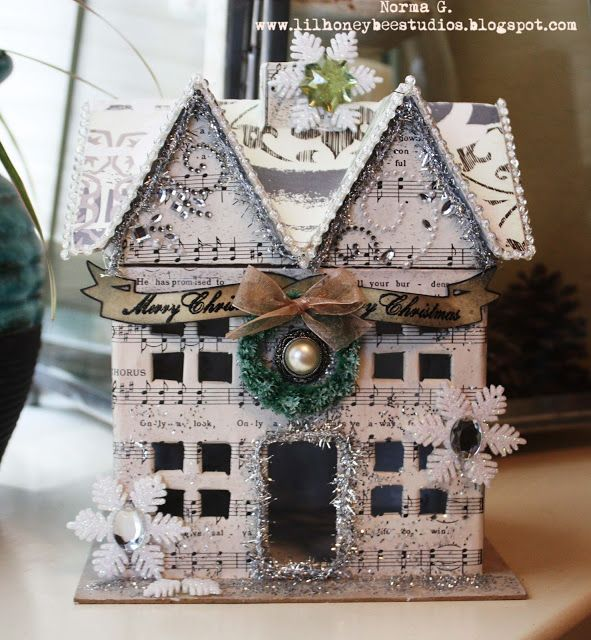 Paper mache house project this is a paper mache house for Hobby lobby craft paper