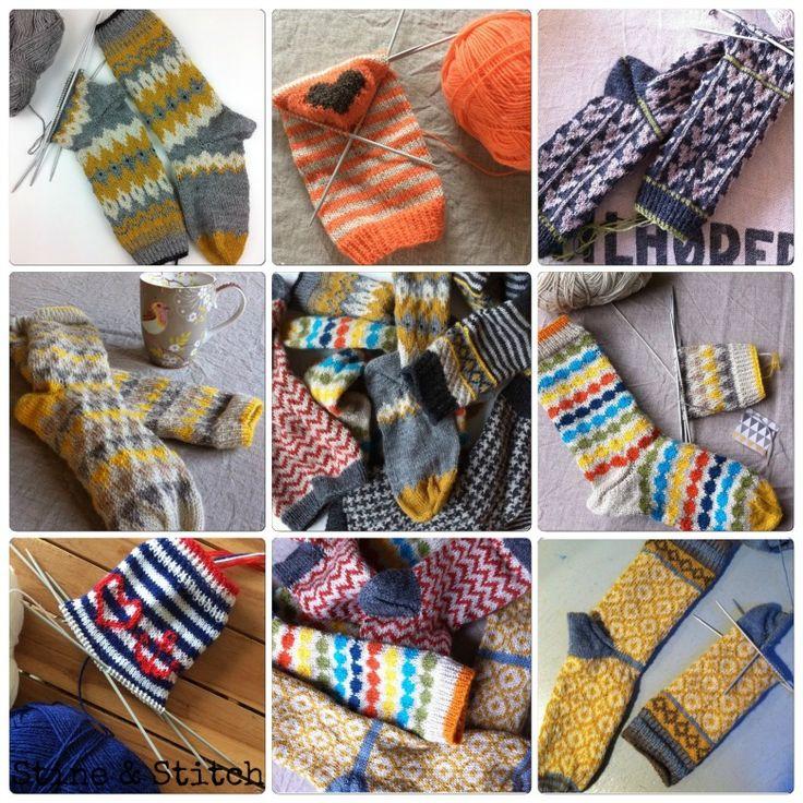 Handgestrickte Socken 2015