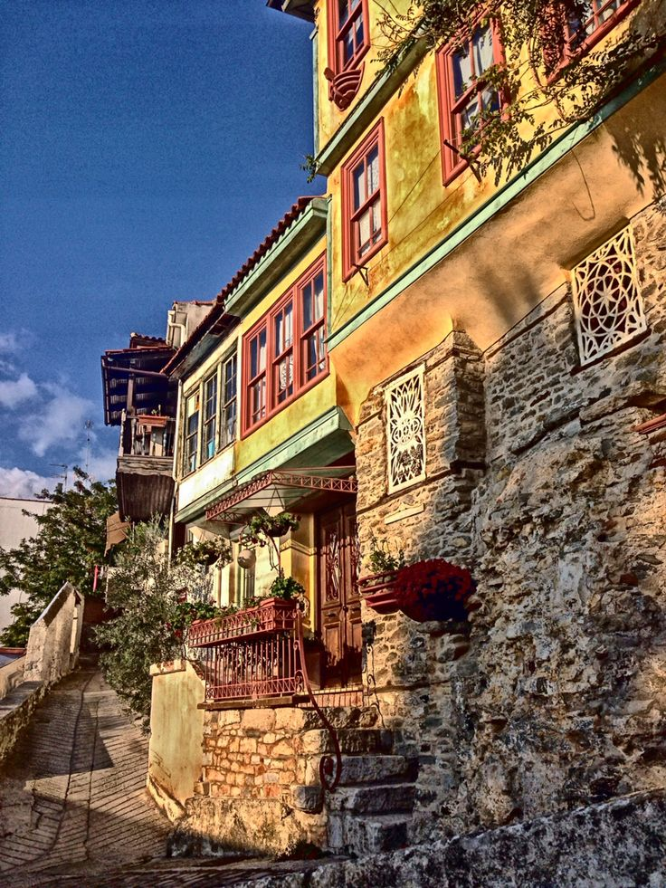 Old town of Panagia in Kavala, Greece