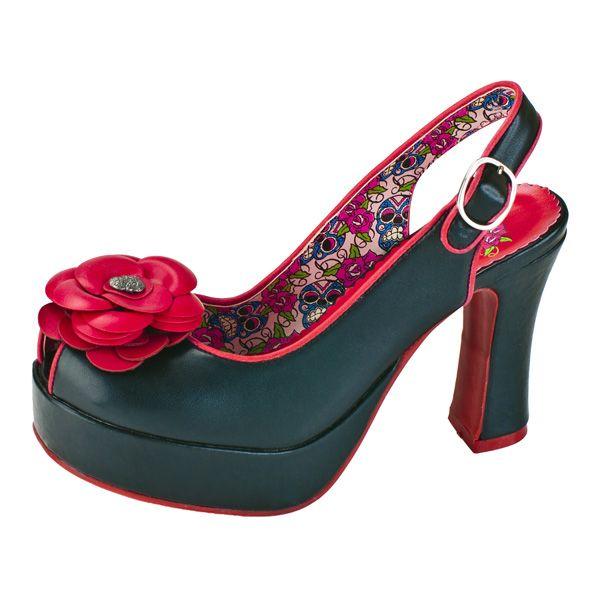 Slingback Flora Hi Platform Heel Shoes - Rockzone