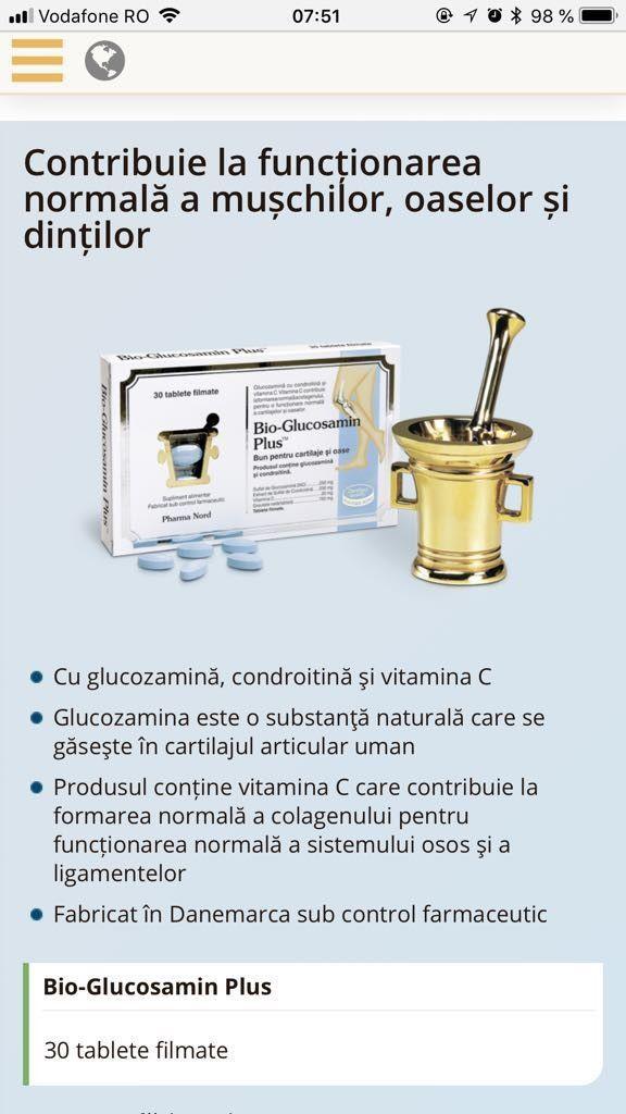 bio-glucozamină condroitină