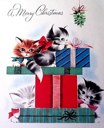 kittens and presents
