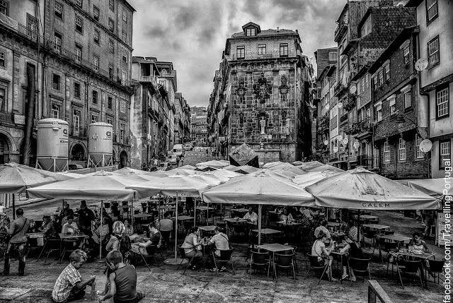 Plaza de A Ribeira en Oporto   Portugal Turismo
