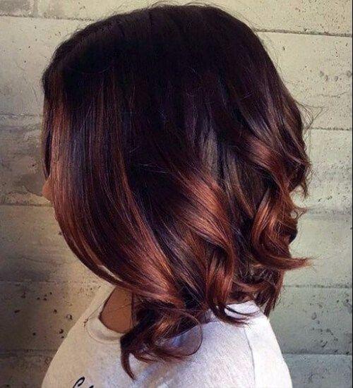 ombre auburn hair coloration