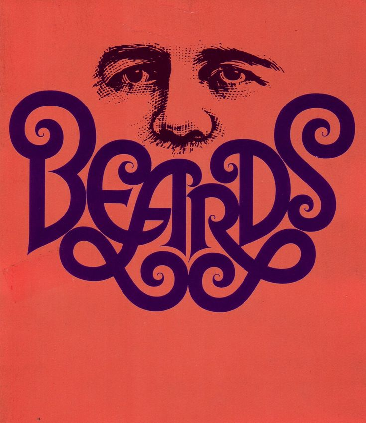 Herb Lubalin Beard - this is really clever, making the letters look fluid and adding flourishes really bring the word beard to life