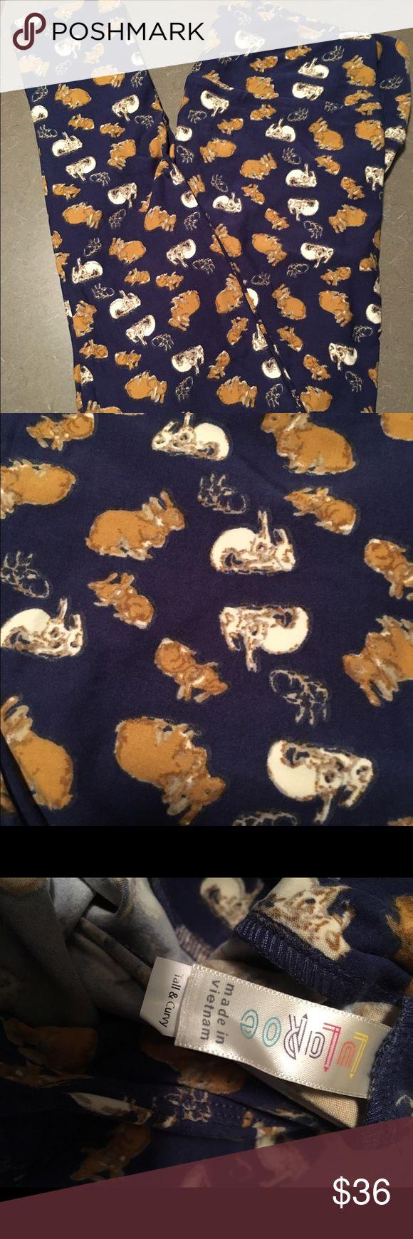 TC LulaRoe bunnies Leggings TC never tried on!!! So cute!!! LuLaRoe Pants Leggings