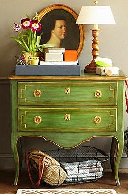 Beautiful green chest.