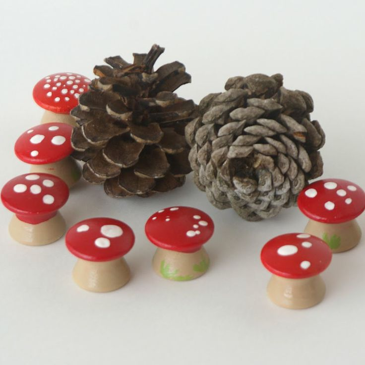 """What a good idea - these 'Magical Little Mushrooms' are painted drawer handles! ("""",)"""