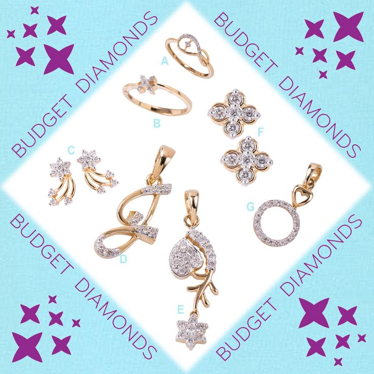 Nice diamonds ; sweet diamonds ; certified diamonds ; fashionable diamonds ; reasonable diamonds ; DIAMONDS ARE FUN with Budget Diamonds to suit every taste, every pocket. Only from your favourite jewellery store ----- The Gold Factory.