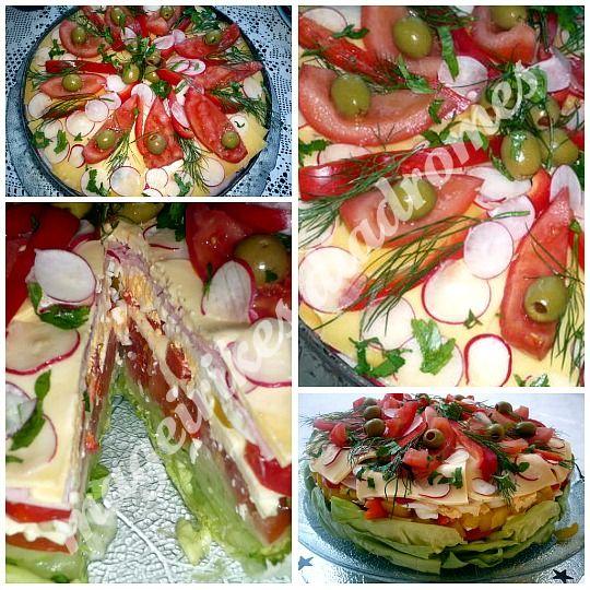 Σαλάτα Τούρτα http://www.mageirikesdiadromes.gr/recipes/salata-toyrta.html