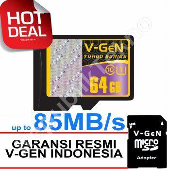 VGEN 64GB Class 10 V-Gen microSD HC 64 GB-246rb
