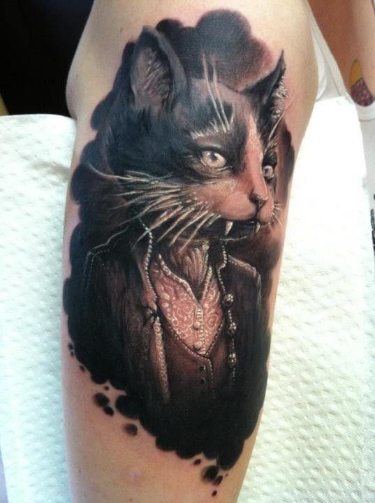 Vampire Cat Tattoo