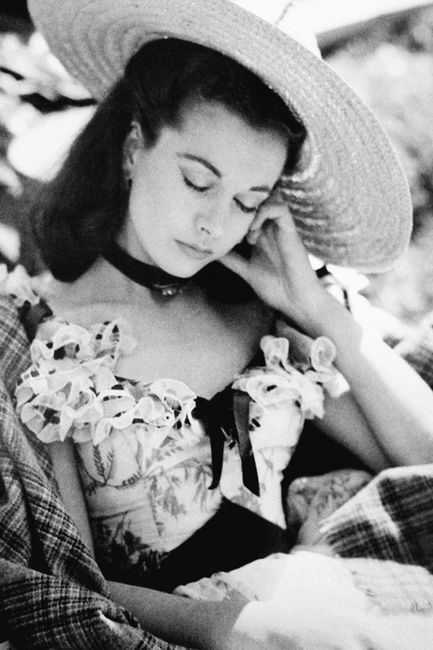 Gone With The Wind: Vivien Leigh taking a little nap during a break in filming