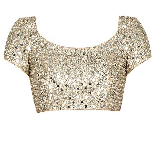 Gold mirror embroidered blouse available only at Pernia's Pop Up Shop. ($955) ❤ liked on Polyvore featuring tops, blouses, white embroidered blouse, gold top, yellow gold blouse, gold blouse and embroidery blouses