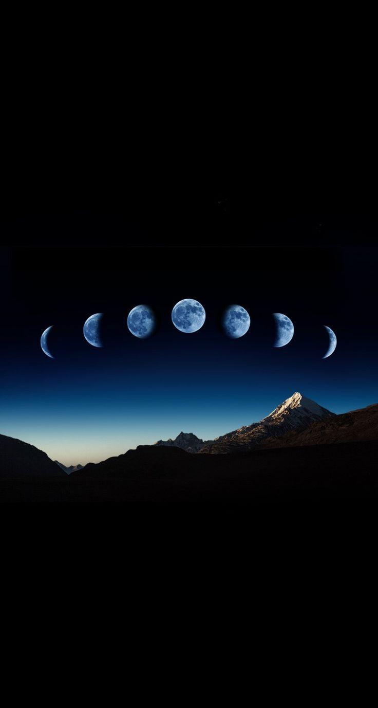 IPhone Hintergrundbild – Mondphase Berg iPhone Hintergrundbild Hintergrundsperre