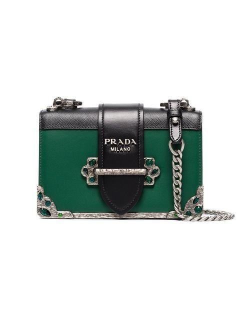 baf2012ce0a6 Prada Cahier Mini Bag With Crystals - Farfetch | garments | Bags ...