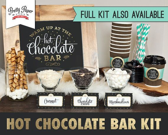 Hot Chocolate Bar Sign // INSTANT DOWNLOAD by ThePrettyPaperStudio