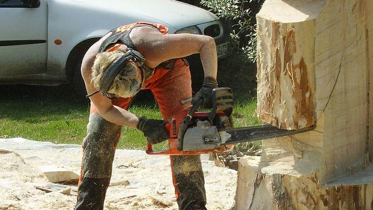 Wer bis dahin meinte: Man(n) - besser Frau - kann mit einer Motorsäge nur Bäume umlegen, wird eines besseren belehrt!