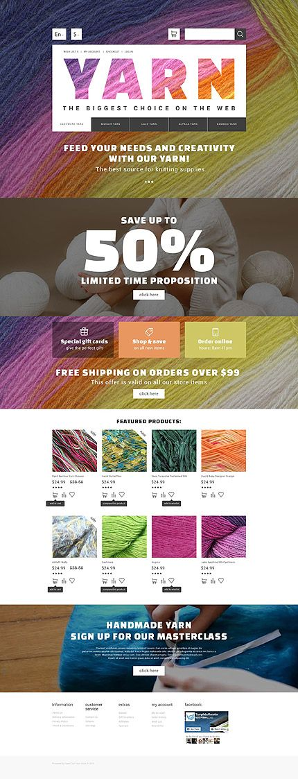 Hobbies & Crafts website inspirations at your coffee break? Browse for more OpenCart #templates! // Regular price: $89 // Sources available: .PSD, .PNG, .PHP, .TPL, .JS #Hobbies #Crafts #OpenCart