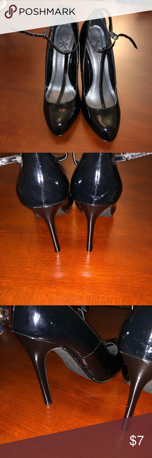 BLACK HIGH HEELS! KIM K COLLECTION! DEAL! 9.5M Get these high heels for only $7! From the KIM KARDASHIAN collection. Color Black, size 9.5M. only worn a few time. See pics.    My wife and I are cleaning out our closet and selling stuff cheap. Kim kardashian collection Shoes Heels