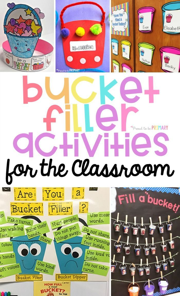 Bucket Filler Activities for the Classroom