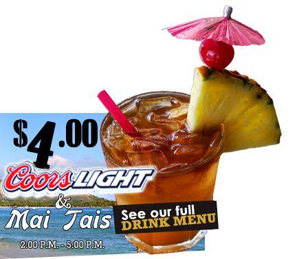 Shorebird $4 mai tais