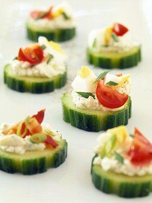 Cucumber-Cheese Bites