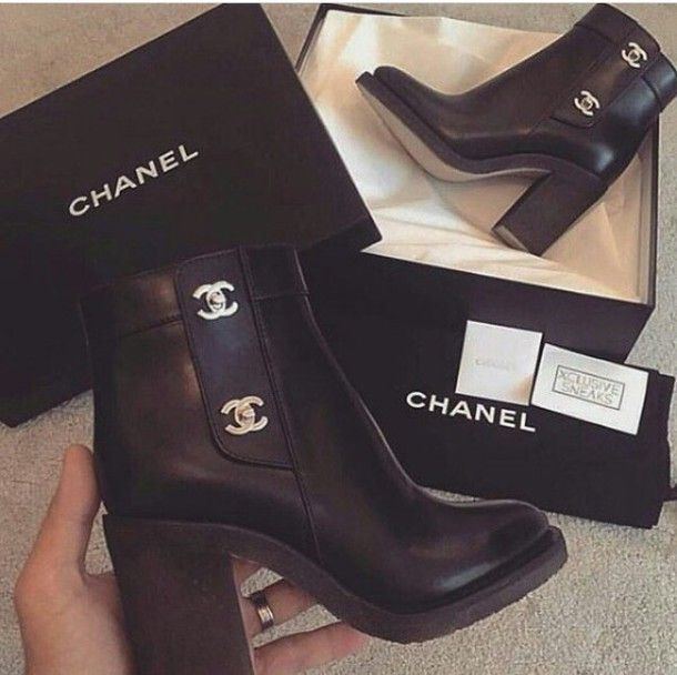 chanel, ankle boots, gold