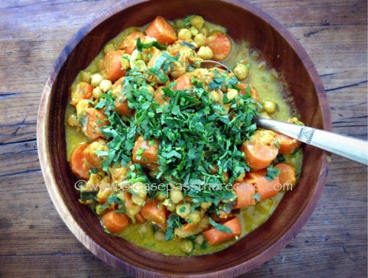 Carrot, chick pea tajine with preserved lemon