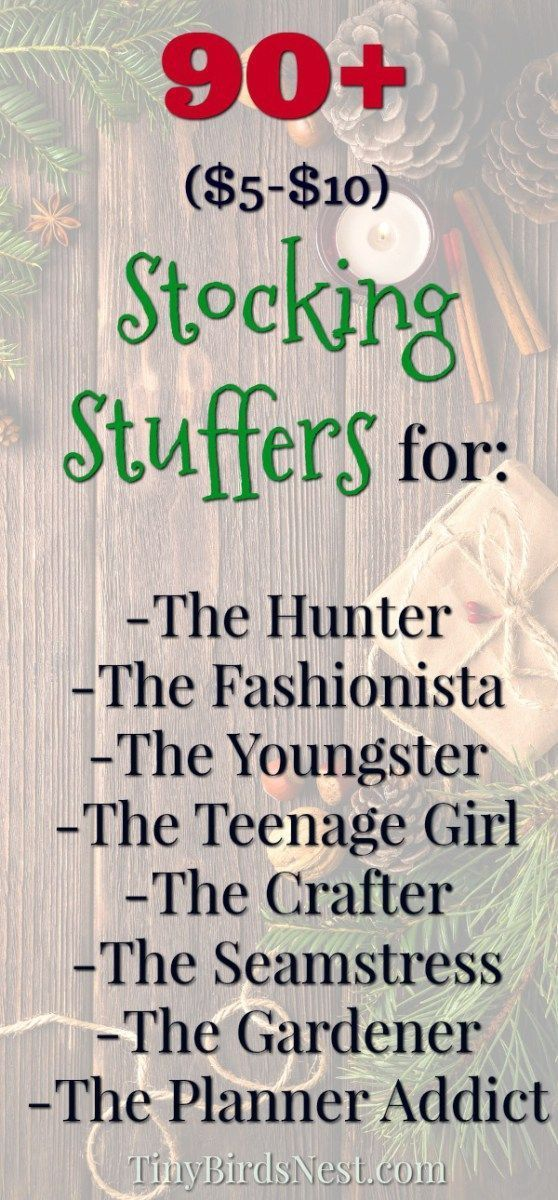 $5 to $10 Stocking Stuffer ideas for youngsters, fashionistas, teenage girls, hunters, crafters, seamstresses, sewers, gardeners, hobbyists, bujo lovers (bullet journal), and planner addicts. #christmas #stockingfiller http://www.giftideascorner.com/stocking-stuffer-gifts-ideas