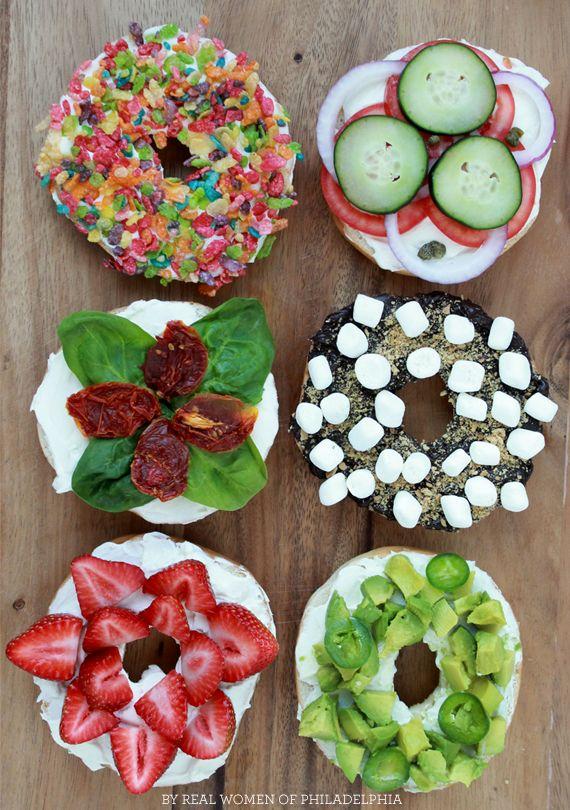 six ways to enjoy a bagel #breakfast