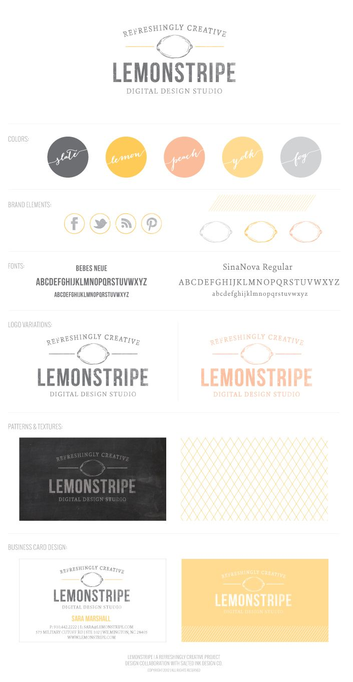 LEMONSTRIPE COLLECTIVE BRAND LAUNCH! - Salted Ink Design Co. Logo design and business branding